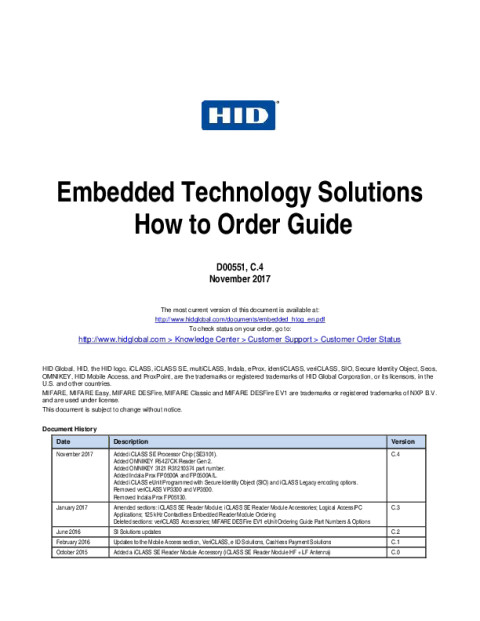 Embedded Technology Solutions How to Order Guide