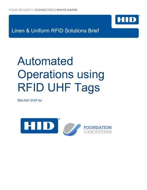 Optimizing the Laundry Cleaning Lifecycle with RFID