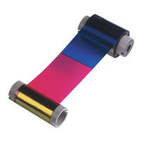 Image of an HID FARGO dye ribbon placed at an angle